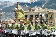 Een rennende Madonna in Sulmona